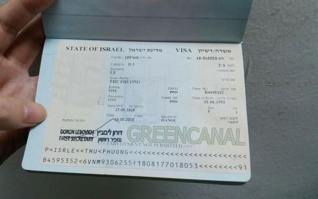 Visa Đi Israel