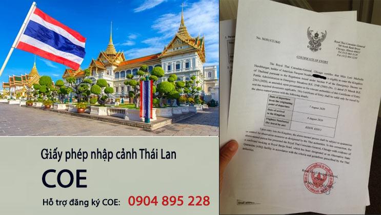 coe - giấy chứng nhận nhập cảnh thái lan - giấy phép