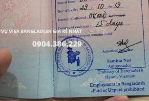 dịch vụ làm visa Bangladesh tại hà nội giá rẻ nhất