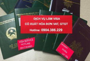 Dịch vụ làm visa có xuất hóa đơn Vat, gtgt