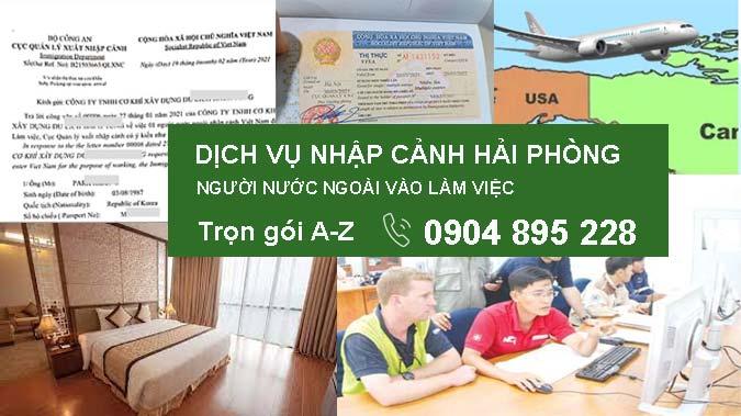 dịch vụ visa nhập cảnh hải phòng cho người nước ngoài làm việc