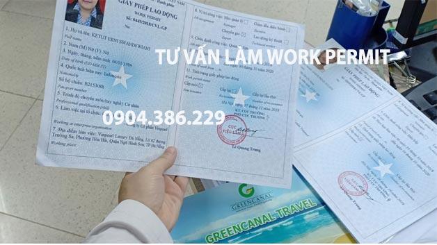 Dịch vụ làm work permit có hóa đơn vat, gtgt