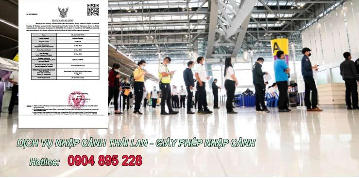 dịch vụ làm giấy phép nhập cảnh thái lan theo quy định mới