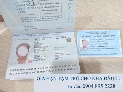 gia hạn thẻ tạm trú cho người nước ngoài tphcm