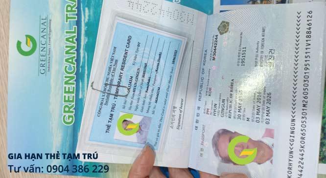 gia hạn thẻ tạm trú cho người nước ngoài 2021 ở đâu làm