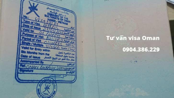 hướng dẫn thủ tục xin visa đi oman