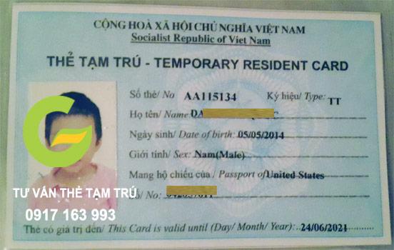 thẻ tạm trú cho con là người nước ngoài tại hải phòng