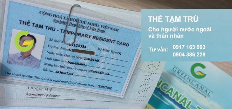 làm thẻ tạm trú cho người nước ngoài và thân nhân tại hải phòng