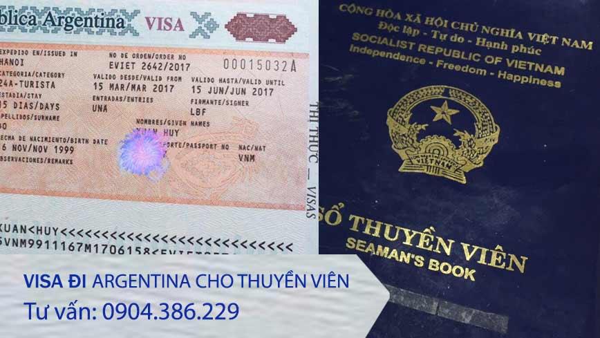 làm visa cho thuyền viên đi Argentina