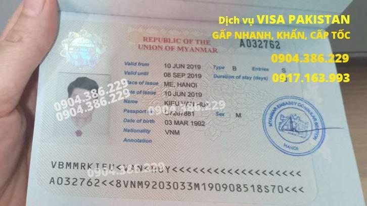 làm visa đi myanmar nhanh, khẩn, gấp, cấp tốc