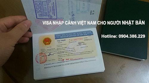 làm visa nhập cảnh việt nam cho người nhật bản vào việt nam du lịch công tác