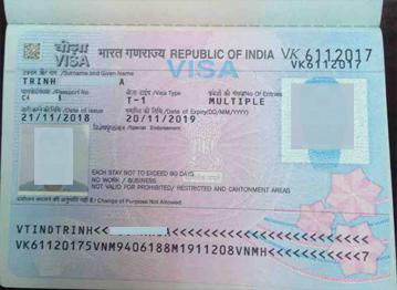 thủ tục xin visa ấn độ mới nhất dạng visa dán