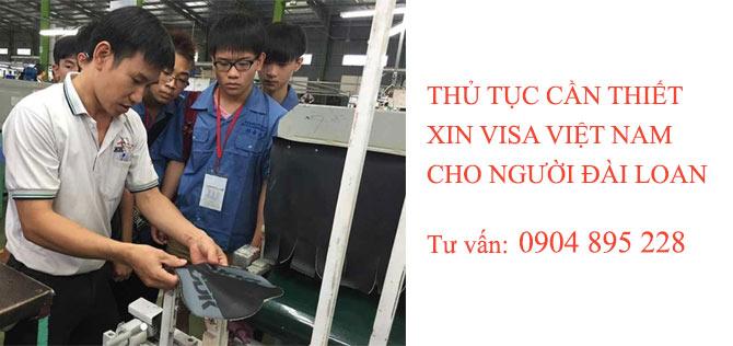 thủ tục xin visa việt nam cho người đài loan yêu cầu gồm