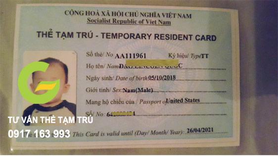 tư vấn cách làm thẻ tạm trú cho con là người nước ngoài